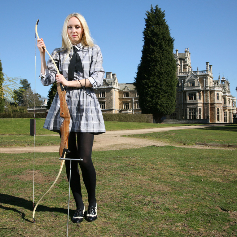 Cassie at Thoresby Hall for Marie Claire
