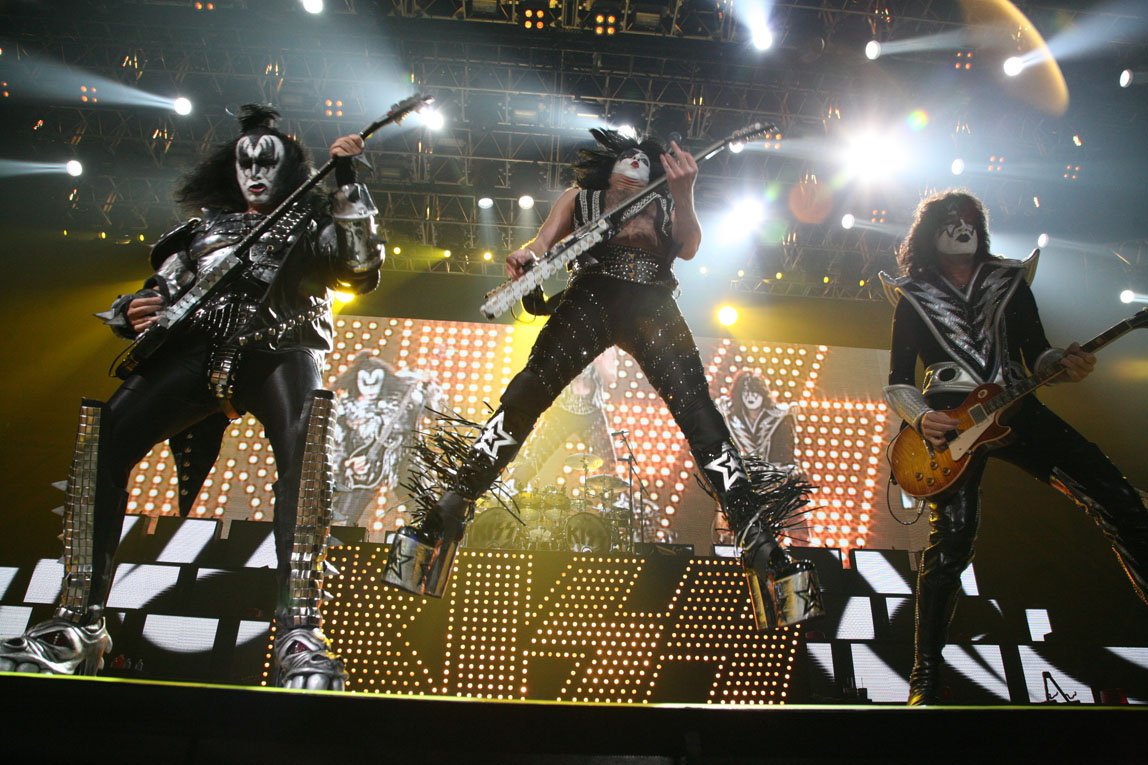On tour with KISS / Houston / Texas / Gene, Tommy, Paul