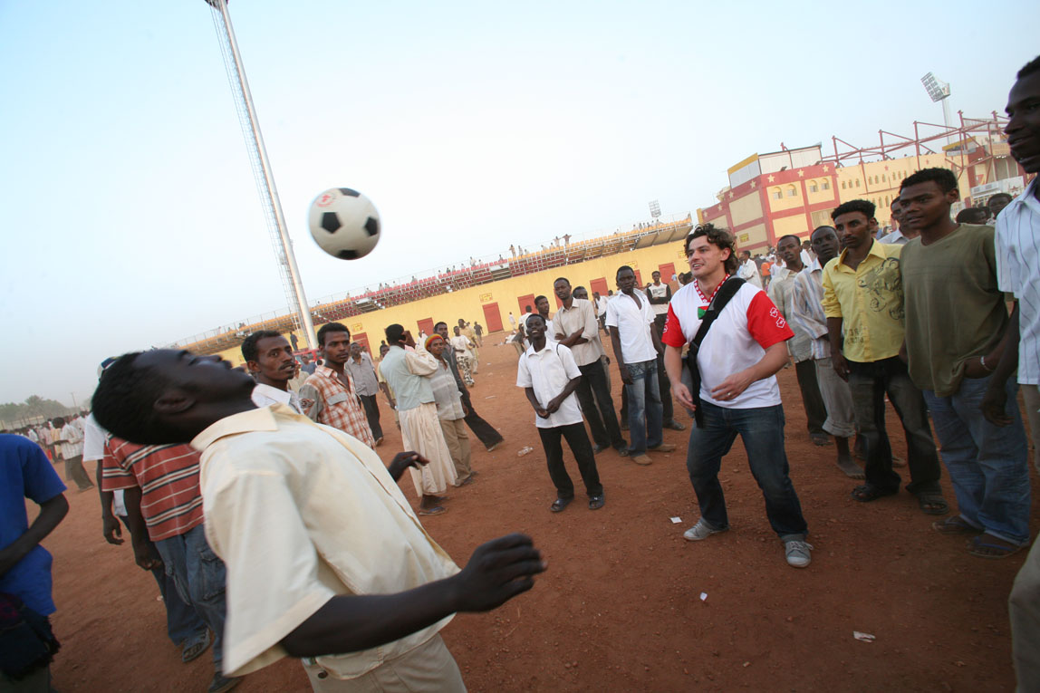 Sudan v Ghana / The Sudan / A Kickabout with the fans