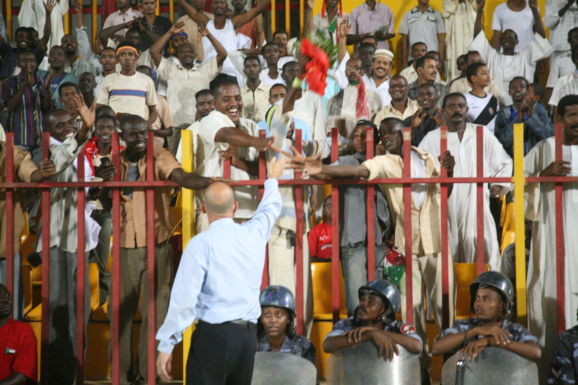 Sudan v Ghana / The Sudan / Throwing Flowers to the Fans